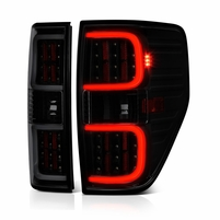 09-14 Ford F-150 Dual LED Tube Tail Lights - Black Smoked