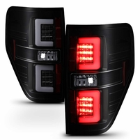 09-14 Ford F150 LED Tube Tail Lights - Black Smoked