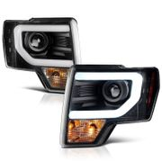 09-14 Ford F150 Optic-DRL Performance Projector Headlights - Black