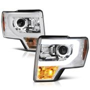 09-14 Ford F150 Optic-DRL Performance Projector Headlights - Chrome