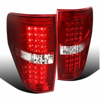 09-14 Ford F150 Pickup LED Tail Lights - Red