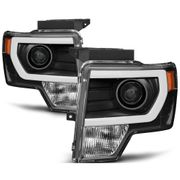 09-14 Ford F150 [Raptor Style] LED DRL Projector Headlights - Black