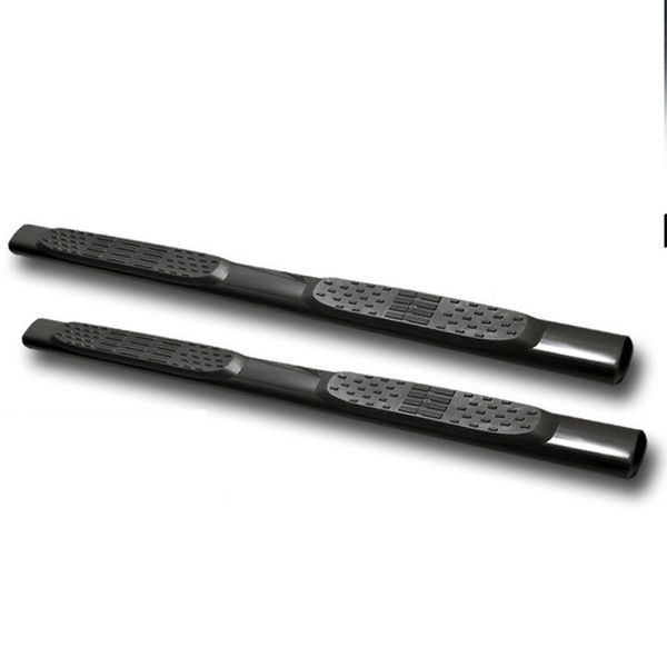 """09-14 Ford F150 Super [Extended] Cab 5"""" Oval Side Step Bar Running Board - Black"""