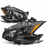 09-14 Nissan Maxima Replacement Projector Headlights - Black / Amber
