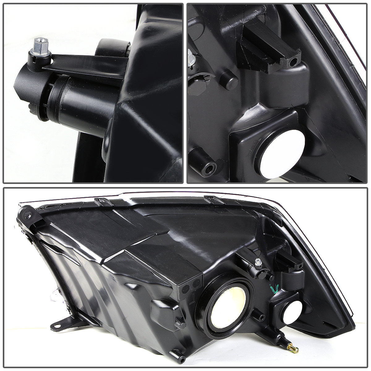 Black Bezel Projector Headlight Lamp Assembly RH Passenger Side for Ram Truck