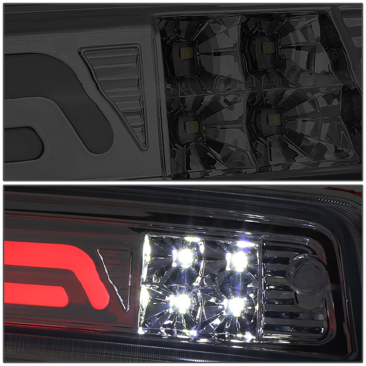 09 17 Dodge Ram Truck 3d Led Bar 3rd Third Brake Light Rear Cargo Wiring On Cap Lamp Chrome