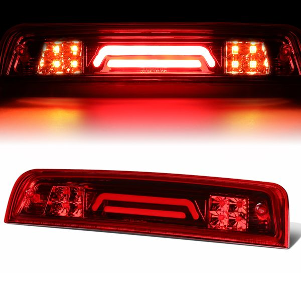 09-17 Dodge RAM Truck 3D LED Bar 3rd Third Brake Light Rear Cargo Lamp (Red / Clear)