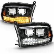 09-18 Dodge RAM [Full LED Projector] Switchback Signal Headlights - Black