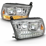 09-18 Dodge RAM [Full LED Projector] Switchback Signal Headlights - Chrome