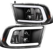 09-18 Dodge RAM Pickup Black LED DRL Tube Projector Headlights