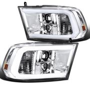 09-18 Dodge RAM Pickup Chrome LED DRL Tube Projector Headlights
