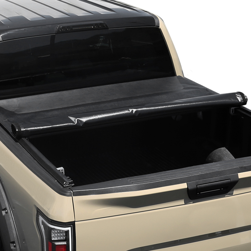 04 12 Chevy Colorado Canyon 5ft Short Bed Roll Up Soft Black Vinyl Tonneau Cover