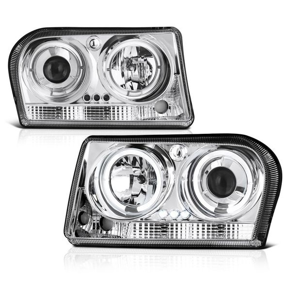 09-2010 Chrysler 300 Dual Halo & LED Projector Headlights - Chrome