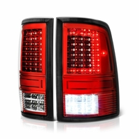 09-2018 Dodge RAM 1500 2500 3500 LED Tail Lights - Red Clear