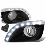 10-11 Toyota Camry Clear Lens Oe Bumper Driving Fog Light+Led Drl+Switch