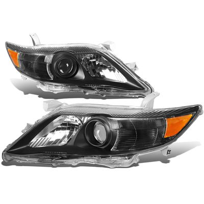10-11 Toyota Camry OE-Style Replacement Headlights  - Black / Amber