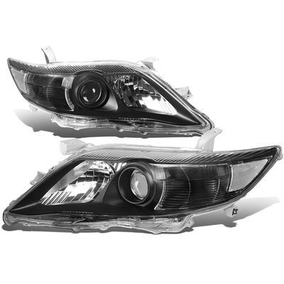 10-11 Toyota Camry OE-Style Replacement Headlights  - Black / Clear