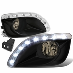 10-11 Toyota Camry Smoked Lens Oe Bumper Driving Fog Light+Led Drl+Switch