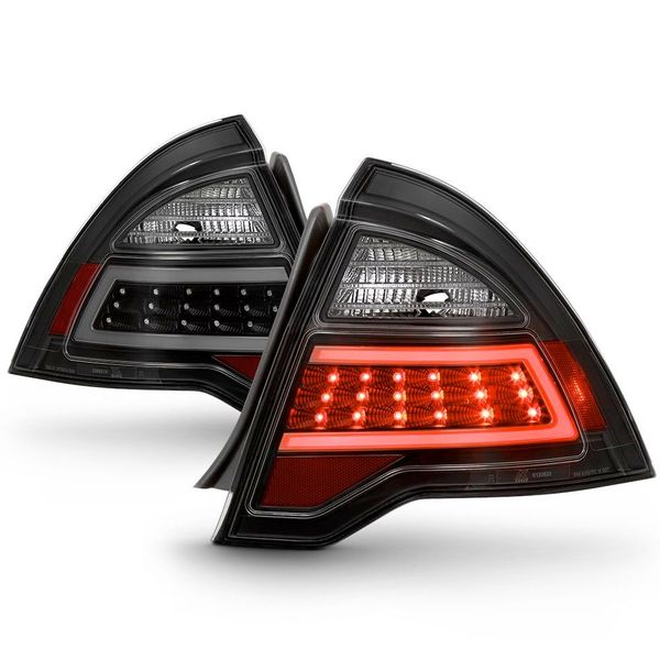 10-12 Ford Fusion LED Tail Lights - Black / Smoked