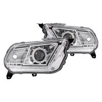 10-12 Ford Mustang [HID Model] CCFL Halo & LED DRL Projector Headlights - Chrome