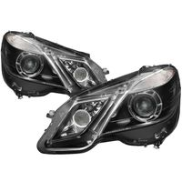 10-13 Mercedes Benz E-Class [Halogen Model Only] Projector Headlights - OE Style - Black