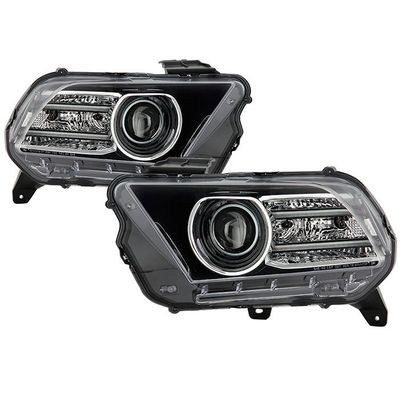 10-14 Ford Mustang Optic LED DRL Projector Headlights - Black
