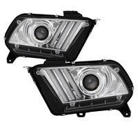 10-14 Ford Mustang Sequential LED Signal / DRL Projector Headlights - Chrome