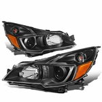 10-14 Subuaru Outback / Legacy Replacement Projector Headlights - Black Amber