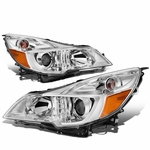 10-14 Subuaru Outback / Legacy Replacement Projector Headlights - Chrome Amber