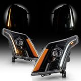 10-16 Cadillac SRX [Halogen Model] Switchback Signal LED DRL Projector Headlights - Black