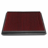 10-16 Lexus GX460 / Toyota 4Runner Reusable & Washable Replacement Engine High Flow Drop-in Air Filter (Red)