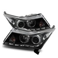 11-12 Chevy Cruze LED DRL & Halo Projector Headlights - Black