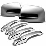 11-14 Jeep Grand Cherokee [Smart Key] 4-Door Chrome Plated Door Handle + Mirror Cover Trim