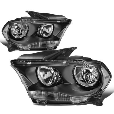 11-13 Dodge Durango [Halogen Model] Crystal Headlights - Black Clear