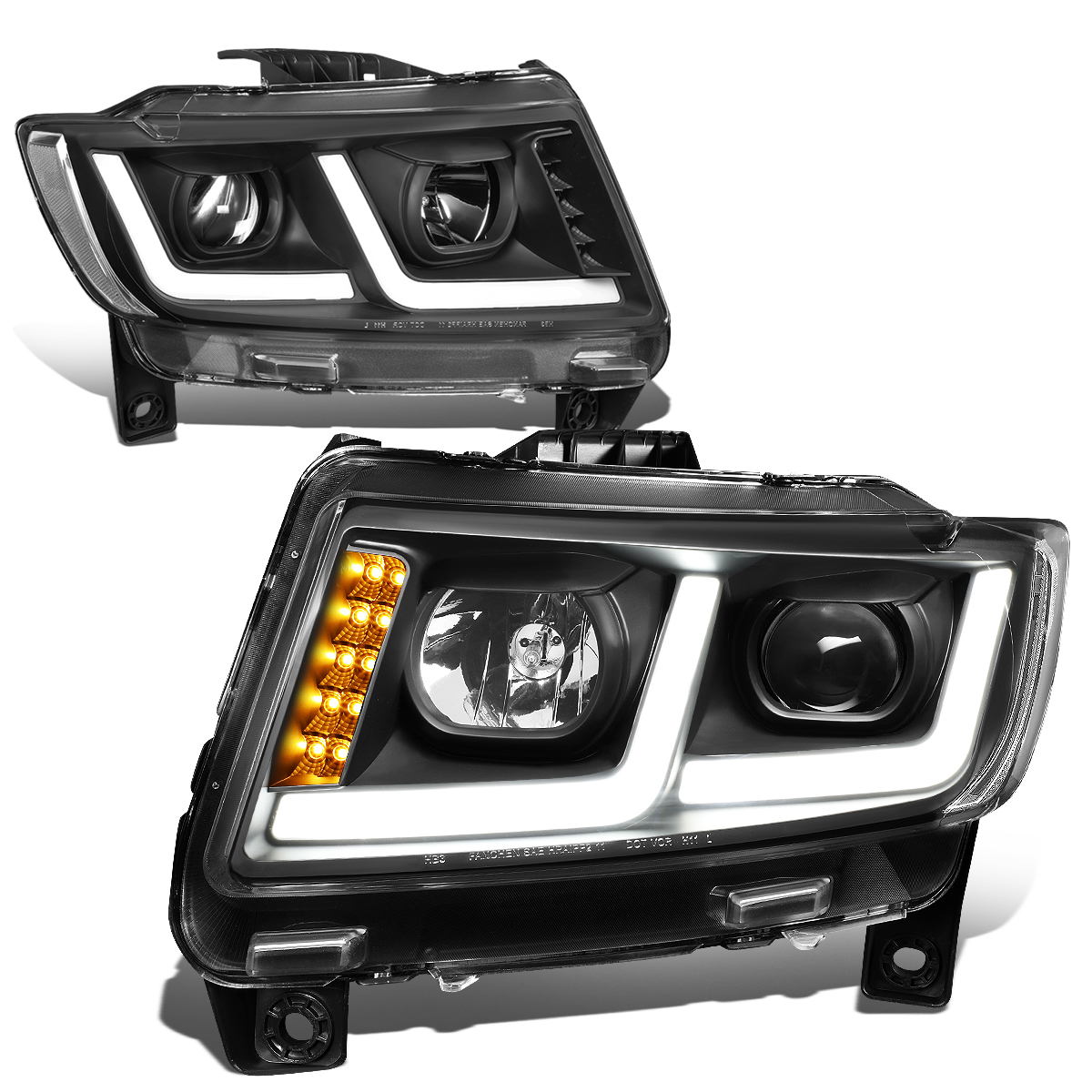 11 13 Jeep Grand Cherokee Halogen Model Led Drl Projector
