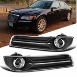 11-14 Chrysler 300 Smoke Projector Tinted Driving Fog Lights w/ Switch+Bezel