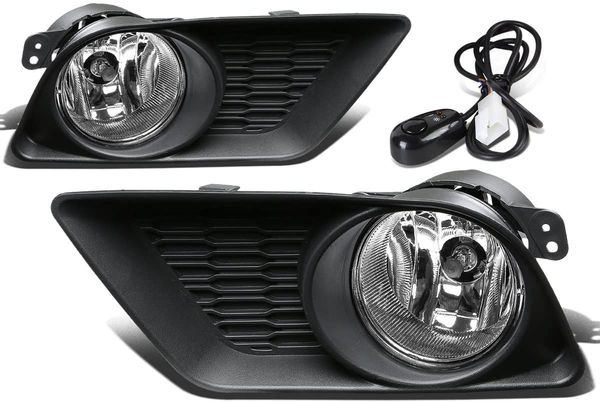 11-14 Dodge Charger Clear Lens Oe Bumper Fog Light Lamp Pair+Switch