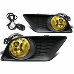 11-14 Dodge Charger Yellow Lens Oe Bumper Fog Light Lamp Pair+Switch
