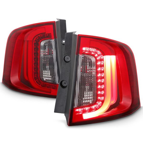 11-14 Ford Edge C-Shaped LED Tube Tail Lights Red Smoked