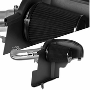 11-14 Ford Mustang 5.0L V8 Polished  Cold Air Intake+Heat Shield+Black Filter