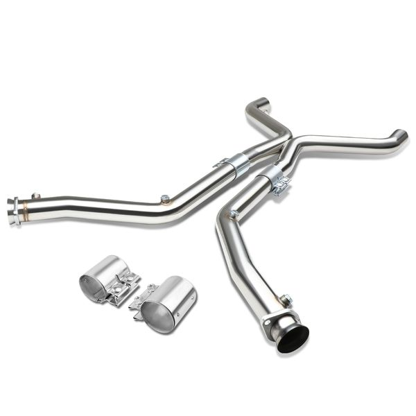 11-14 Ford Mustang Stainless Steel X-Pipe Downpipe Exhaust - 3.7L V6