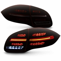 11-14 Porsche Cayenne 958 Optic-Style LED Sequantial Signal Tail Lights Red Smoked