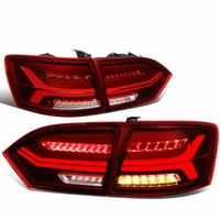 11-14 VW Jetta MK6 3D LED Tube [Sequential Signal] Tail Lights - Red Clear