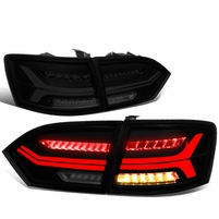 11-14 VW Jetta MK6 3D LED Tube [Sequential Signal] Tail Lights - Smoked