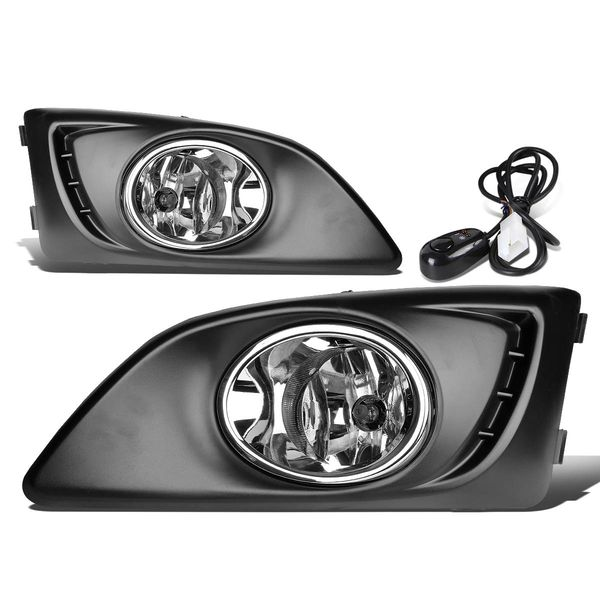 11-15 Chevy Aveo/Sonic Clear Lens Oe Bumper Driving Fog Light+Bezel+Switch