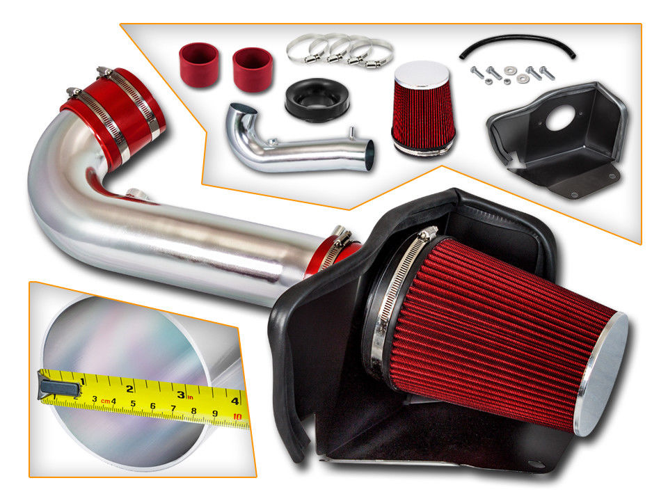 RED-BLACK AIR INTAKE KIT SYSTEM fit 2011-2015 DODGE DURANGO 5.7L V8 HEMI ENGINE