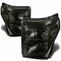 11-15 Ford F250 F350 F450 Superduty Replacement Crystal Headlights - Smoked Clear