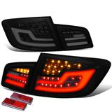 11-16 BMW F10 5-Series Sequential Signal LED Tail Lights - Black / Smoked