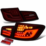11-16 BMW F10 5-Series Sequential Signal LED Tail Lights - Red / Smoked