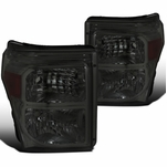 11-16 Ford F250 F350 F450 F550 SuperDuty Smoked Headlights